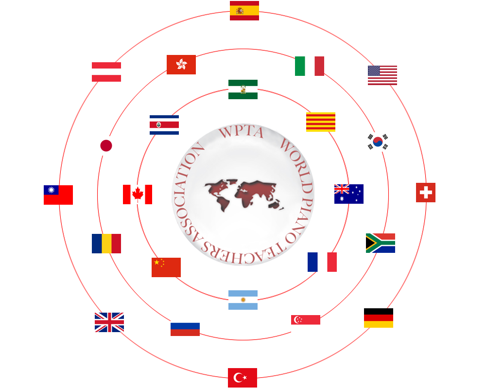 Logo with flags