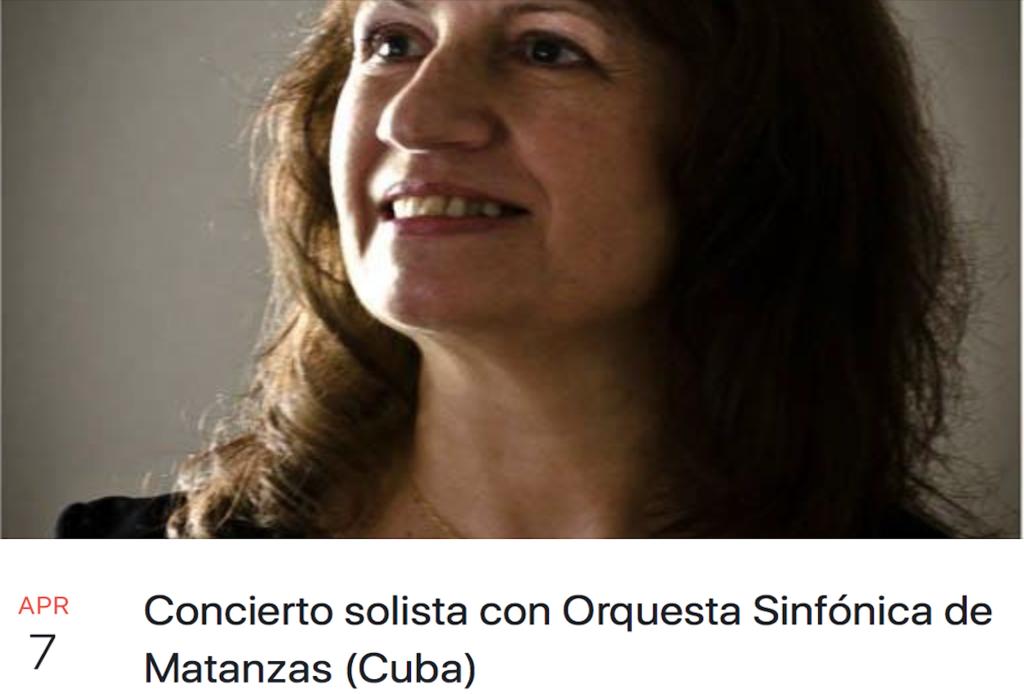 Concierto solista con Orqesta Sinfonica de matanzas