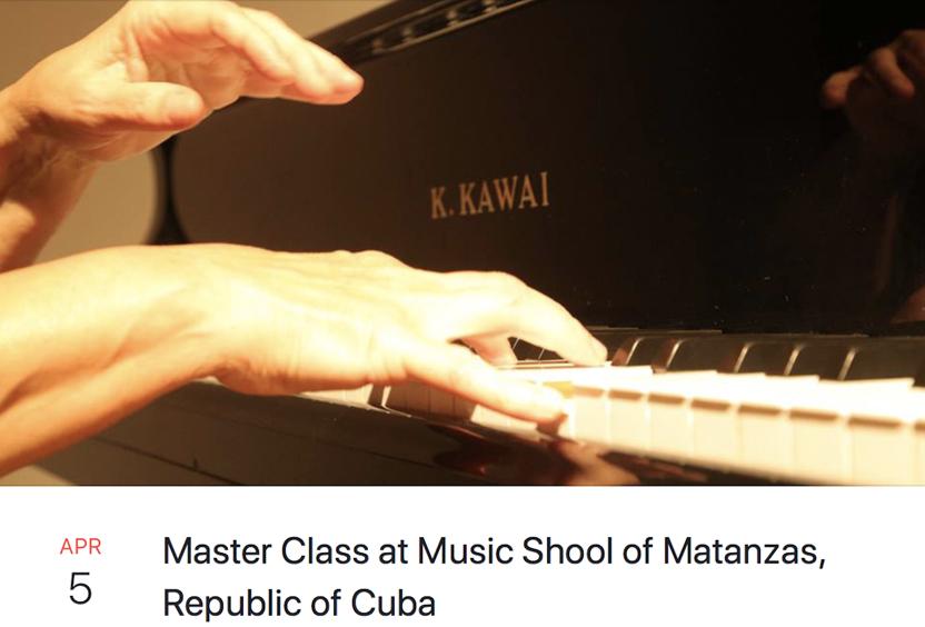 Master Class At Music Scholl og Matanzas (Cuba)
