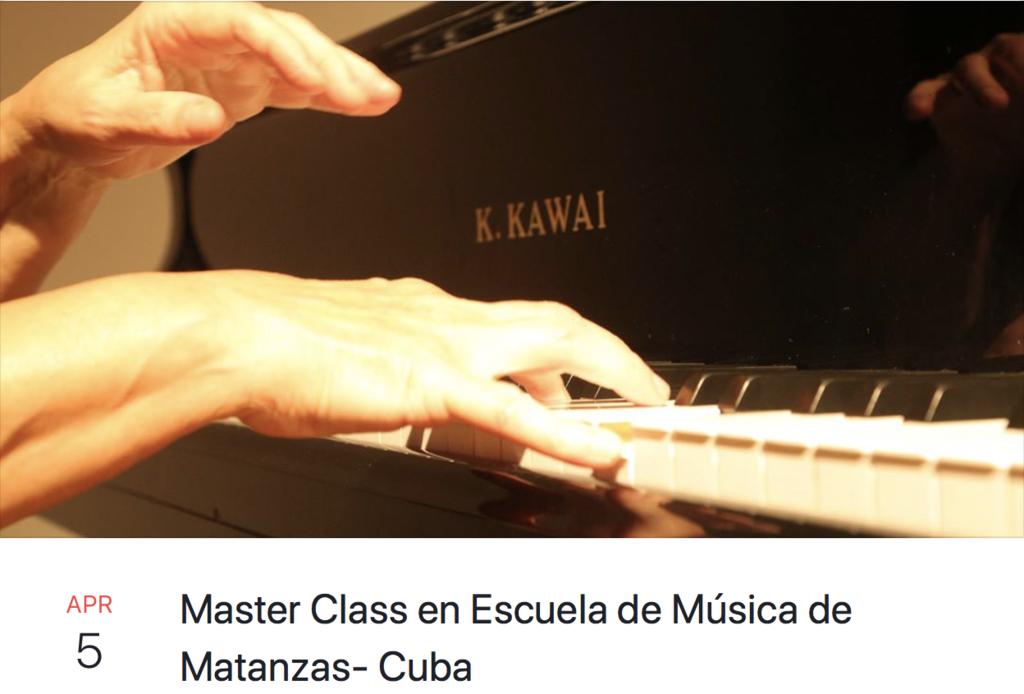 Master class en Escuela de Musica de Matanzas - Cuba