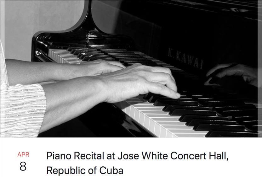 Piano Recital at Jose White Concert Hall