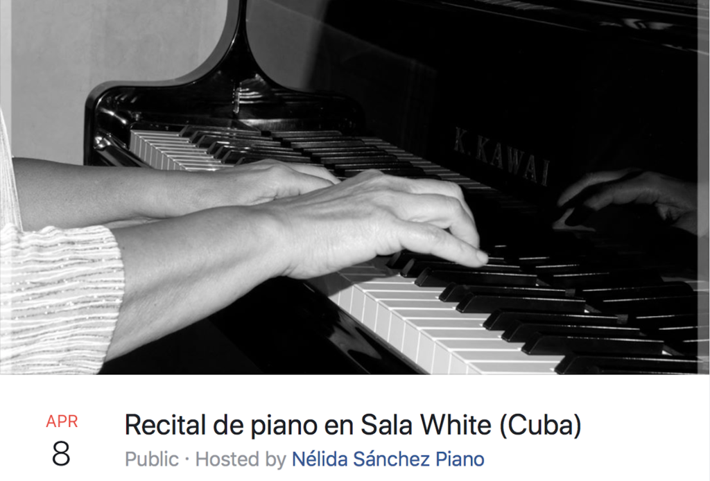 Recital de piana en Sala White