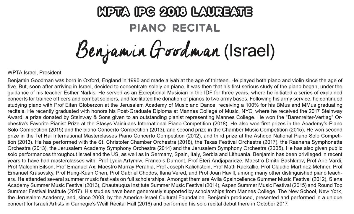 WPC - Benjamin Goodman