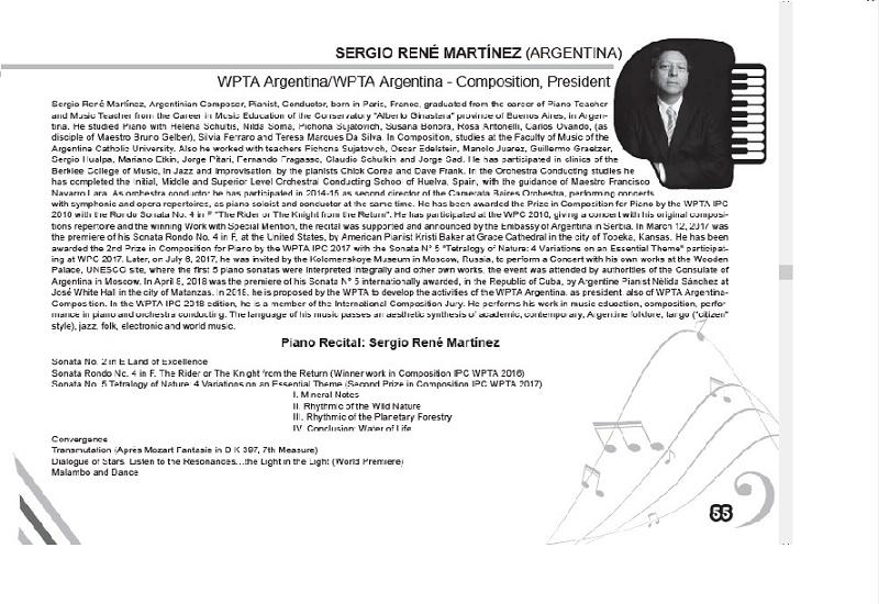 WPTA Argentina -Piano recital