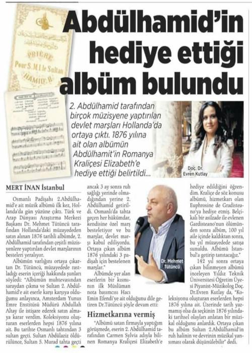 """Evren_Kutlay_ Article in """"Milliyet"""""""