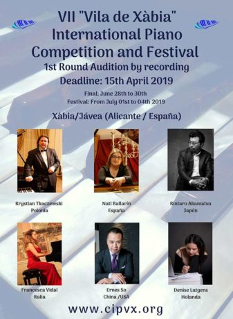 "VII ""Vila de Xàbia International Piano Competition and Festival"""
