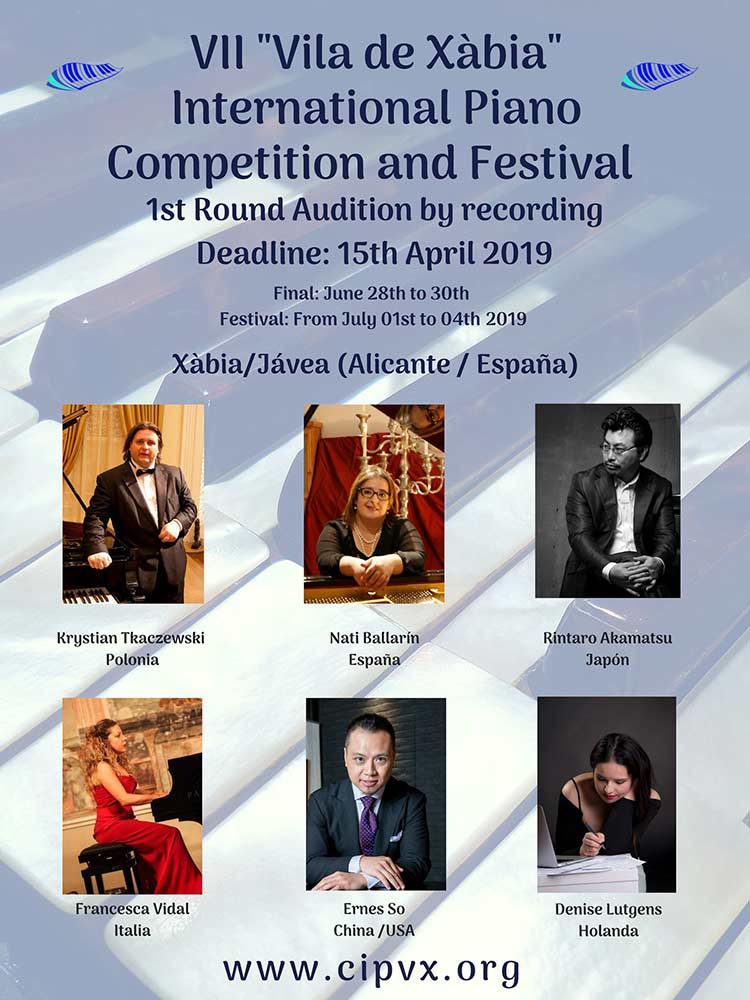 "VII ""Vila de Xàbia International Piano Competition and Festival"""