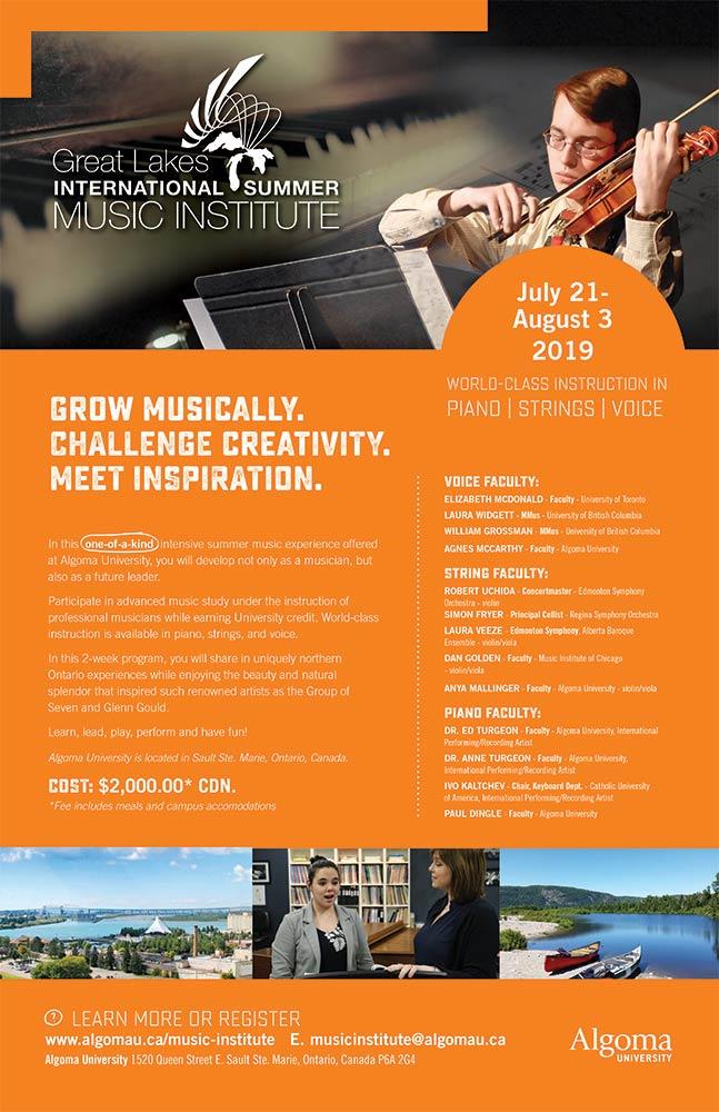 """Great Lakes International Summer Music Institute"""