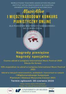 MusicAlive I Międzynarodowy Konkurs Pianistyczny Online